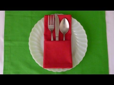 Napkin Folding - Basic Pouch