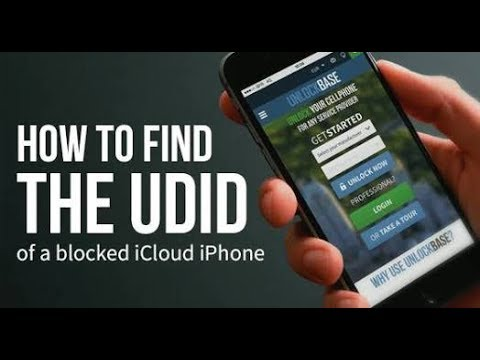 How to find any iphone udid no