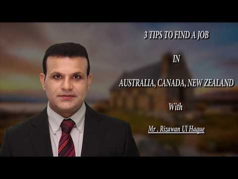Three Tips To Find a Job In Australia, Canada, New Zealand