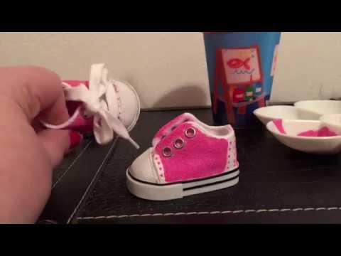 DIY doll Saddle Shoes!! 🎨👟
