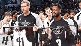Dwyane Wade & Dirk Nowitzki Farewell Speech   February 17, 2019 NBA All-Star Game