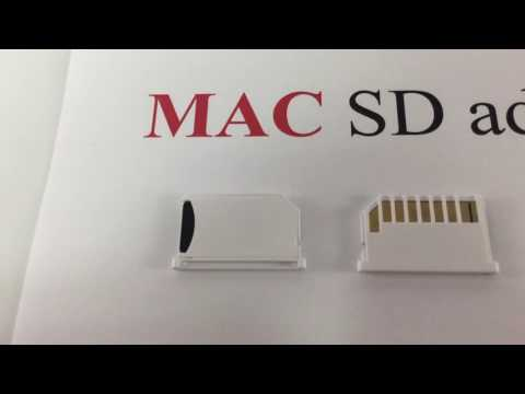 How to insert microSD into apple MACbook MicroSD adapter (www.memorypack.com.tw)