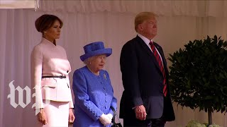 President Trump meets Britain