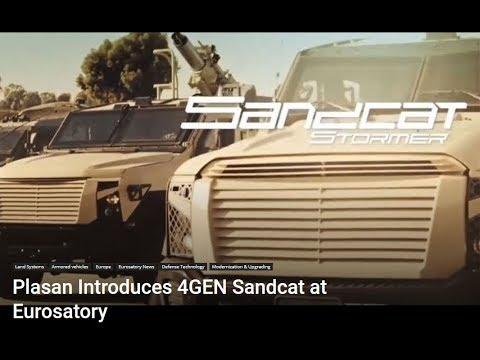 Plasan To Introduce New 4 GEN Sandcat 4x4 Armored Vehicle At Eurosatory 2018