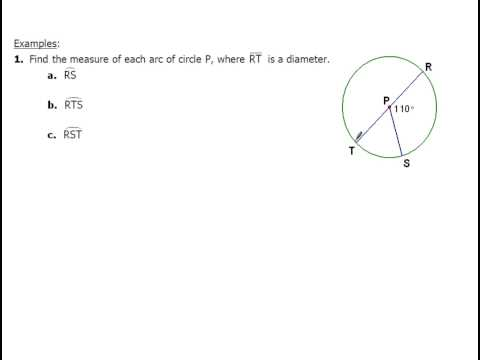 10-2 and 10-4 Finding Arc Measures and Inscribed Angles
