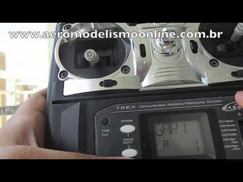 Como configurar seu Transmissor/Rádio Futaba T6EX e trimar seu aeromodelo