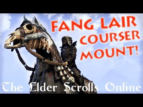 Fang Lair Courser Mount *Grimly Impressive!* - The Elder Scrolls Online