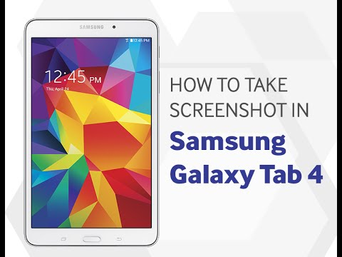 How to Capture Screenshot in Samsung Galaxy Tab 4.0 HD