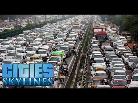 PS4 City Skylines - - - - -trying to stop traffic congestion