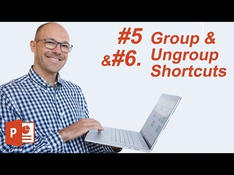 #5: The Group & Ungroup Shortcuts (Microsoft PowerPoint Shortcuts)