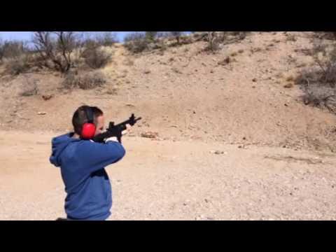 Me Rapid Fire Shooting On An AR-15