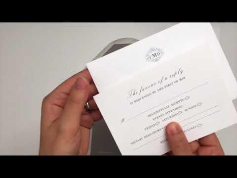French Gray Wedding Invitation
