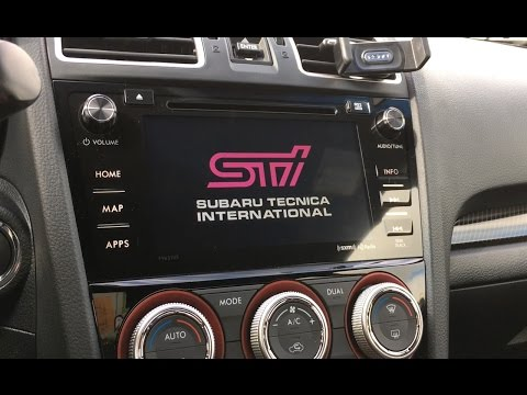 2016+ Subaru Starlink STi Navigation Custom Screen Off Image using Mac