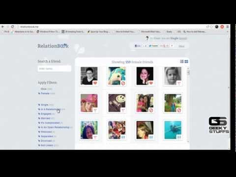 Find Relationship Status of All Facebook Friends in Few Clicks