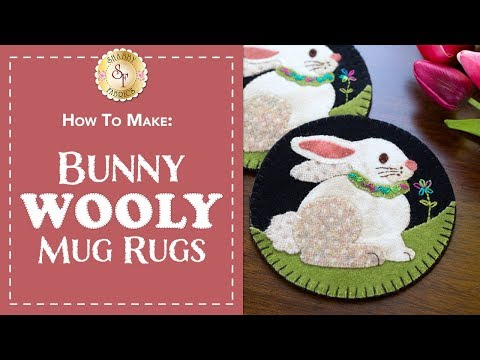 How to Make a Wool Easter Bunny Mug Rug | a Shabby Fabrics Sewing Tutorial
