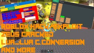 Lua Lua C Script Executor New Roblox Hackexploit Fulflex Limited Lua With Script Pack Roblox Exploit Hack Zeus Cracked Patched Jailbreak Tps Lua And Lua C Script Execution And More