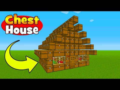 Minecraft Tutorial: How To Make A House Made Out of Chests