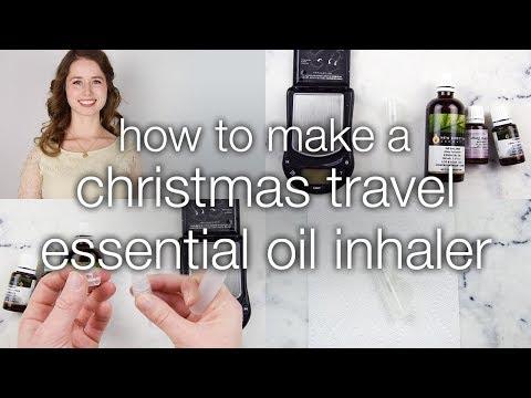 How to Make a Christmas Travel Essential Oil Inhaler