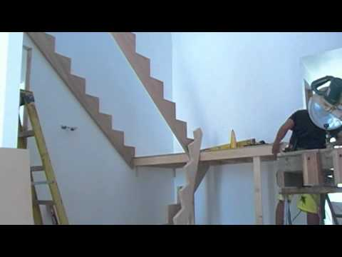 Building a set of timber stairs