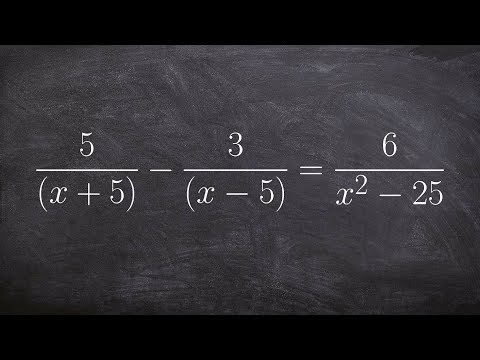 Solving an equation with binomial denominators