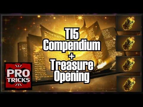 Dota 2 - Activating the lvl 50 Compendium + 4 Immortal Treasures