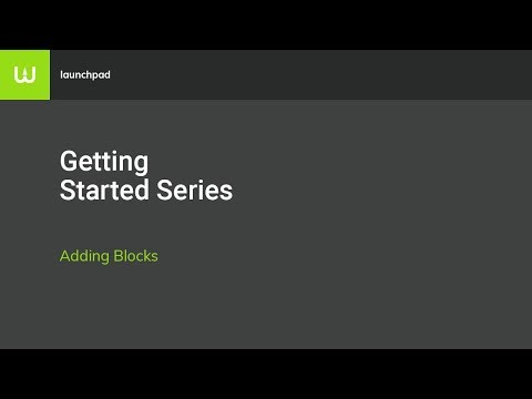 How to Add Blocks to a Website in Warhead