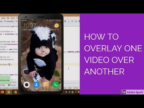 How to overlay one video over another