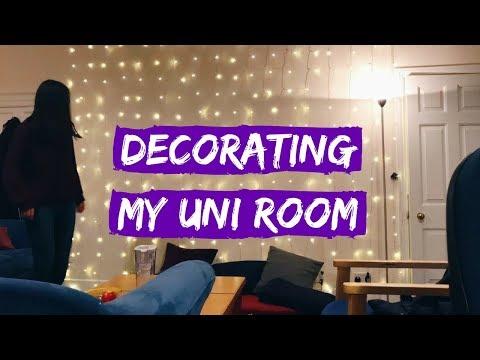DECORATING MY UNIVERSITY ROOM TIME-LAPSE | viola helen