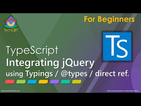 How to integrate jQuery with TypeScript