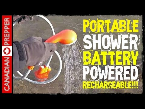 Portable Battery Powered Shower: Rechargeable