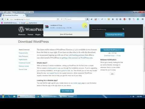 How to Install Wordpress 4.7