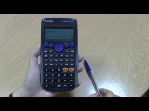 Calculator Tutorial 14: Inverse trigonometric functions on a scientific calculator