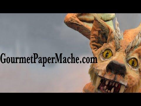 A Very Feral Paper Mache Cat