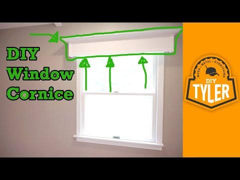 Simple DIY Window Cornice