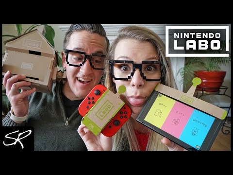 Building Nintendo Labo Variety Kit with my GIRLFRIEND! | House & RC Car