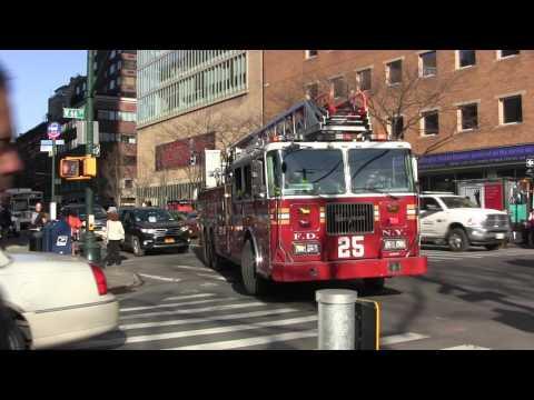 FDNY Ladder 25 Responding in Traffic