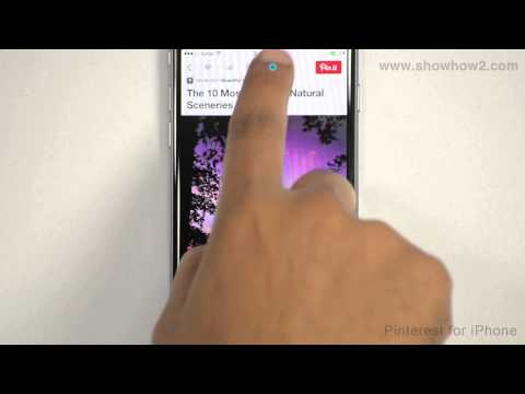 Pinterest For iPhone - How To Save A Pin To The Camera Roll