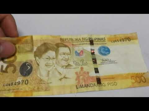 Counterfeit fake 500 philippine peso bill
