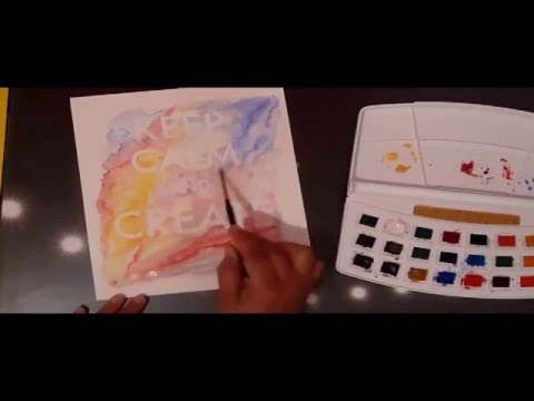 How to make an easy watercolor poster print