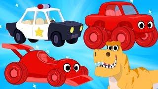 Race Cars, Police Cars, Dinosaurs, trucks + firetrucks superheroes(Morphle