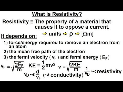 Physics - E&M: Ch 40.1 Current & Resistance Understood (6 of 17) What is Resistivity?