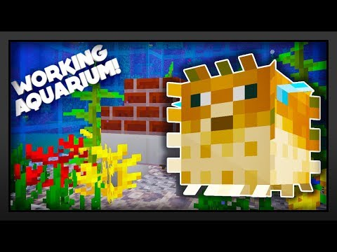 Minecraft - How To Make A Working Aquarium