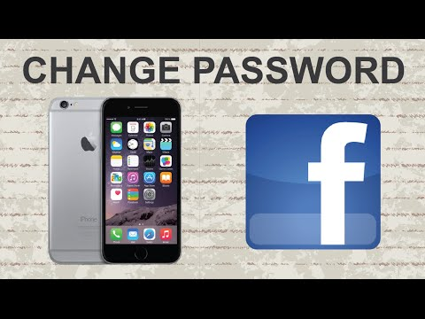 How to change Facebook password on mobile app