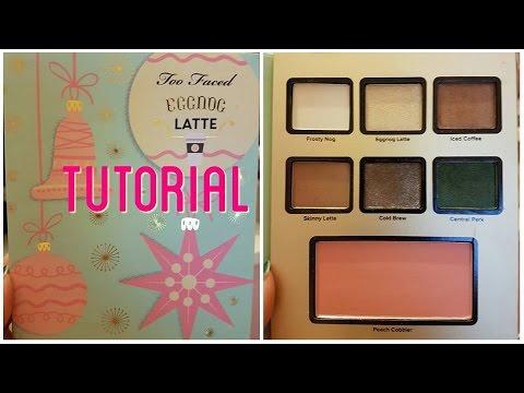 Too faced eggnog latte eyeshadow palette tutorial | IdleGirl