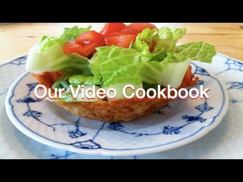 How to make Parmesan Basket Food Decoration Recipe | Our Video Cookbook #113