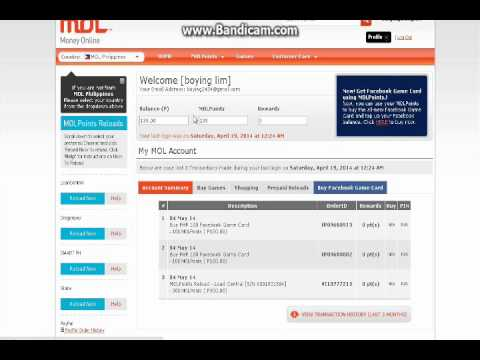 Pacifica Online How to buy 'Facebook Credits' through MOL Points !!by:Boying Lim