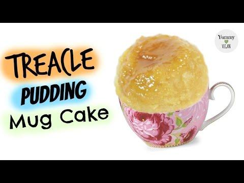 Treacle Pudding Mug Cake   YUMMY VEGAN