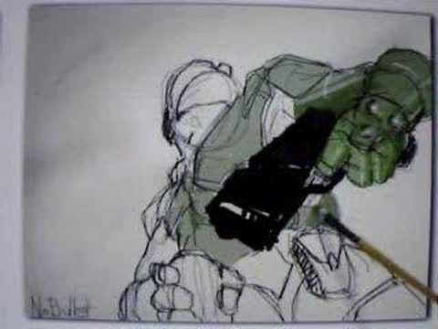 Halo 3 artpad drawing