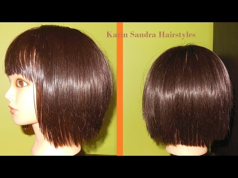 Short layered Bob haircut tutorial with bangs | Bob haircut with graduation | Corte de cabelo Bob