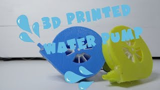 3D printed water pump - easy and efficient